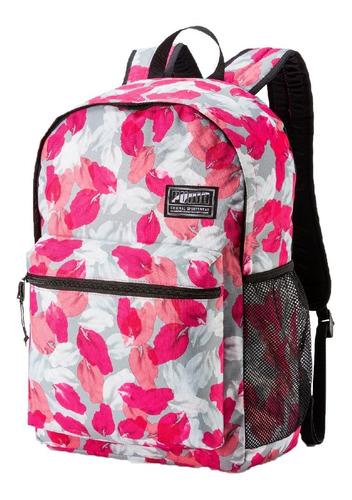 Puma Mochila Lifestyle Mujer Academy Backpack Bco-rosa