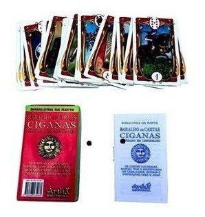 Baralho De Cartas Cigana 36 Cartas + Livreto + Brinde