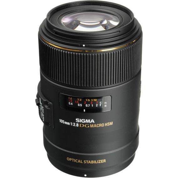 Lente Sigma Para Nikon 105mm F/2.8 Ex Dg Hsm - Loja Platinum