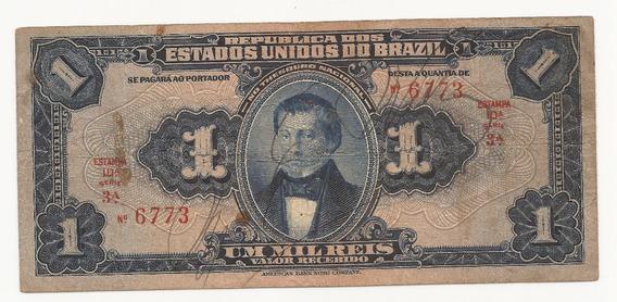 Cédula Brasil 1.000 Réis R077