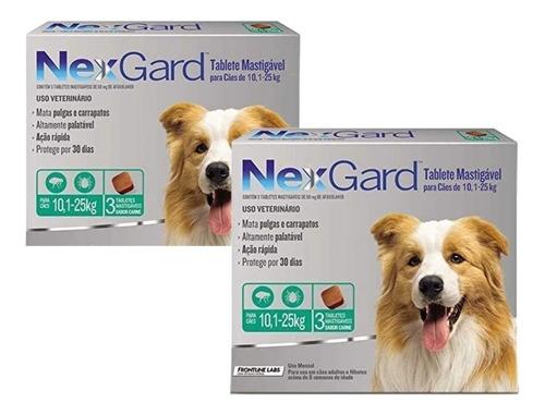 Combo Com 6 Comprimidos Nexgard Antipulgas 68 Mg Cães De 10,
