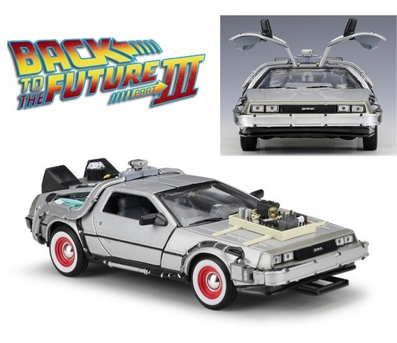 Delorean Time Machine Back To The Future 3 - Welly 1/24