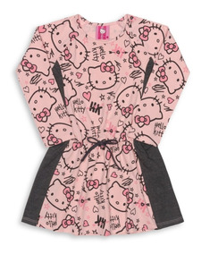 Vestido Infantil Cotton Hello Kitty