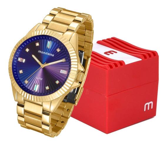 Relógio Feminino Mondaine Analógico Dourado 76613lpmvde3