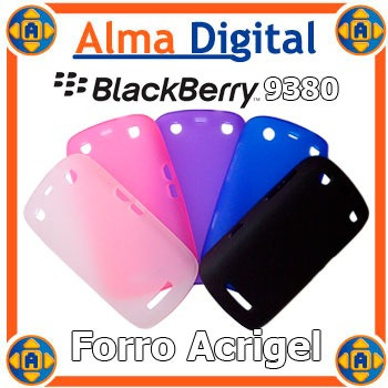 2x Forro Acrigel Blackberry Curve 9380 Estuche Tipo Manguera