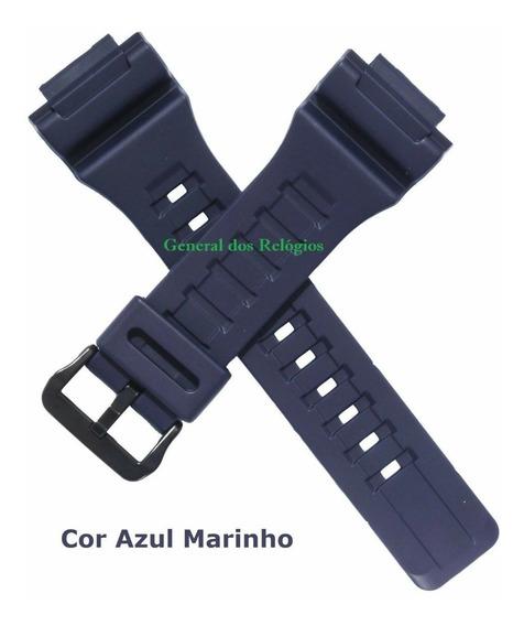 Pulseira Casio W-735h Aq-s810w Aeq110w Azul Marinho Original