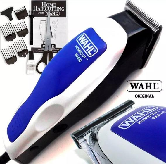 Máquina Corta Cabelo Barba Wahl Cipper Home Cut Azul 220v