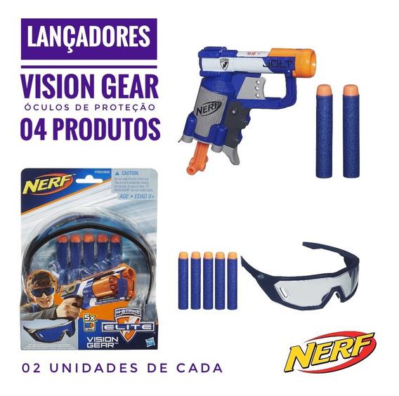 Onetoybox Nerf Vision Gear E Lançador Elite Jolt
