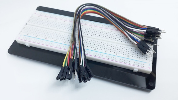 Kit Protoboard 830 Pontos + 30 Jumper Dupont 20 Cm