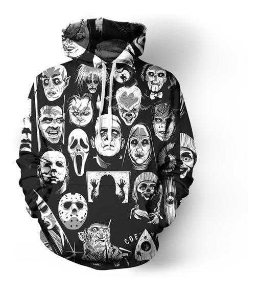 Halloween Sudaderas Con Capucha De La Película De Terror 3d