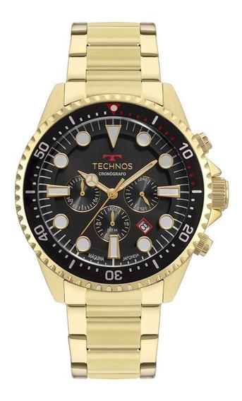 Relógio Technos Masculino Cronógrafo Dourado Js25cd/4c