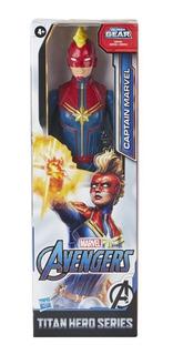 Muñeco Avengers - Titan Capitana Marvel 30 Cm - Hasbro