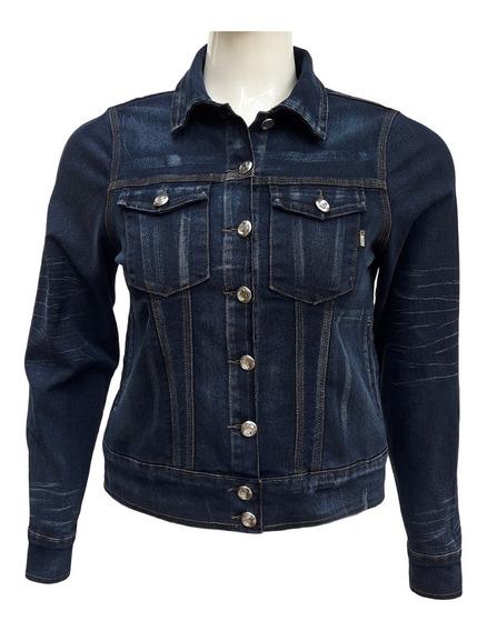 Jaqueta Jeans Feminina Cós Largo Plus Size Tamanhos G Ao Gg3
