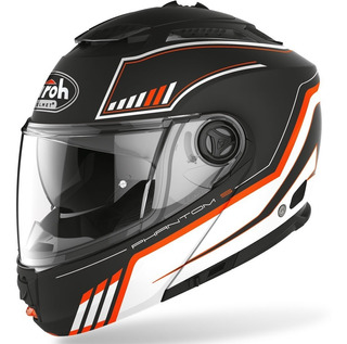 Casco De Moto Abatible Airoh Phantom S Beat Naranja Mate