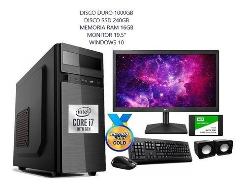 Imagen 1 de 5 de Computador Intel Core I7 10ma Gen 1tb+ssd 240/16gb Led 20 Iv