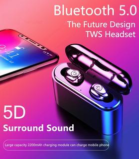 Audifonos Inalambrico Bluetooth 5.0 Power Bank 2200mah 2019