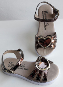 Sandalia Coração Bronze