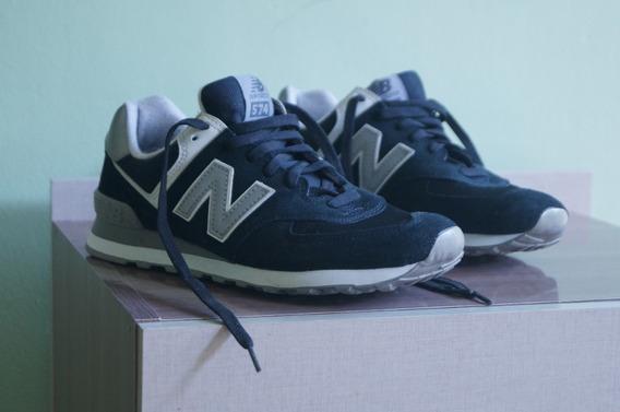 Tênis New Balance 574 - Preto E Branco - Tamanho 42