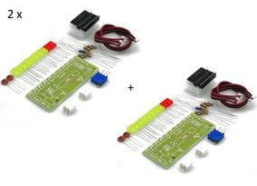 2 Kit Vu De Led - Indicador Nível Audio - Lm3915