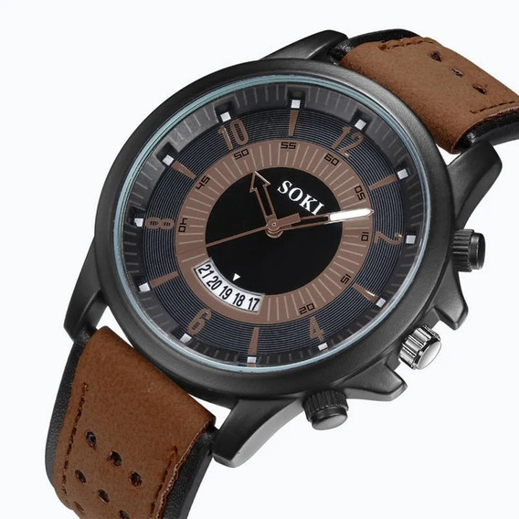Relógio Masculino Pulso Soki Esporte Militar Alta Qualidade