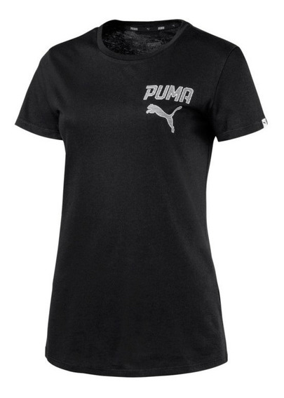 Playera Puma Negra Dama Regular Fit Original 78800