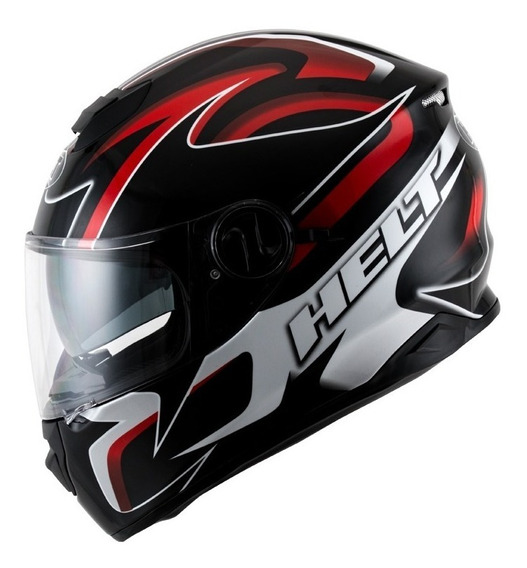 Capacete Helt New Race Glass Bell C/oculos + Balaclava Simp*