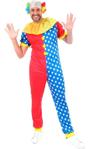 Roupa De Palhaço Adulto Masculino C Peruca Carnaval 38 A 52