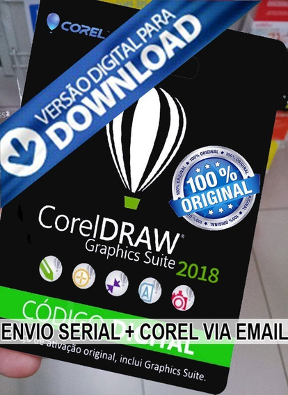Corel Draw 2018 Ativa 01 Pc Superior Á X6 X7 X8 2017 2018