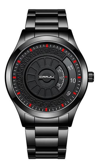 Estilo De La Moda Girar Reloj Impermeable Deporte Hombres Re