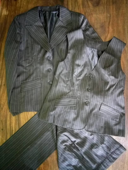 4 Conjunto Traje Taller Chaqueta Blazer Pantalón Chaleco