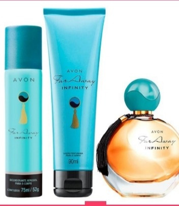 Far Away Infinity Avon Deo Parfum Kit