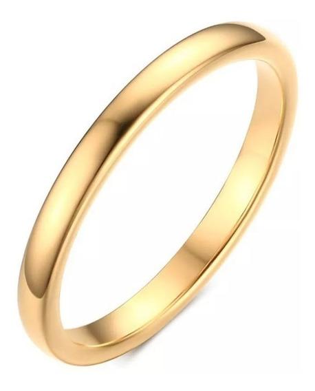 Aliança Titânio Preta E Dourada 2mm