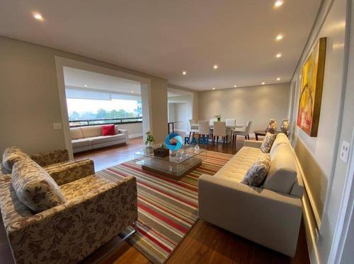 Apartamento Com 3 Dormitórios À Venda, 280 M² Por R$ 1.950.000,00 - Panamby - São Paulo/sp - Ap11598
