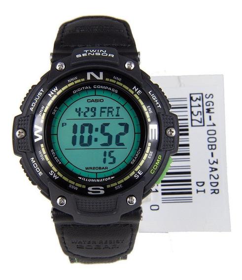 Casio Sgw100 Lona Brujula Termo 5 Alarmas Wr200m Relojfilia