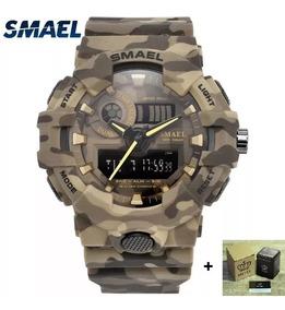 Relógio Militar Exército S- - Smael + Caixa Metal