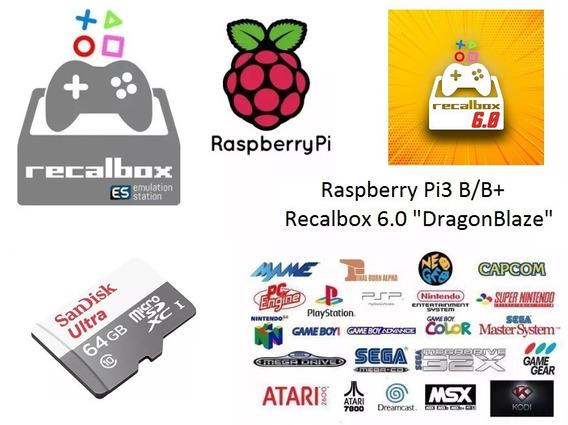 Cartão 128gb Raspberry Pi3 B/b+ 88 Sistemas - 14.311 Jogos