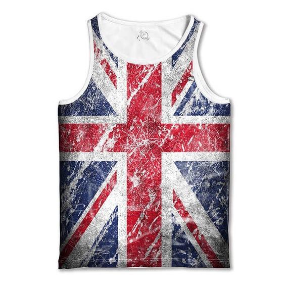 Regata Branca Bandeira Da Inglaterra England