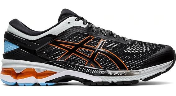 Zapatillas Asics Gel Kayano 26 Running Hombre Negra Blanca