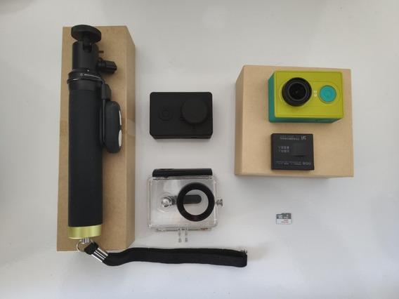 Câmera De Ação Xiaomi Yi 2k 1080p 16mp Full Hd + Acessórios