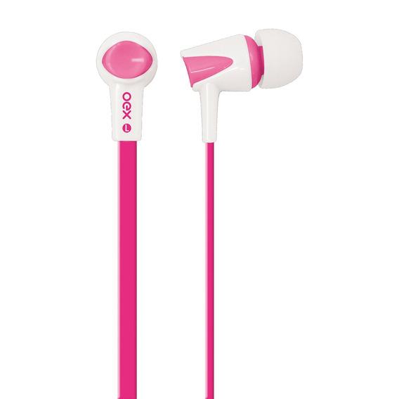 Fone De Ouvido Intra Auricular Com Microfone Rosa Fn203 Oex