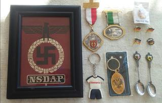 Cuadro De Partido Politico Nazi, Pins, Llaveros Y Medallas