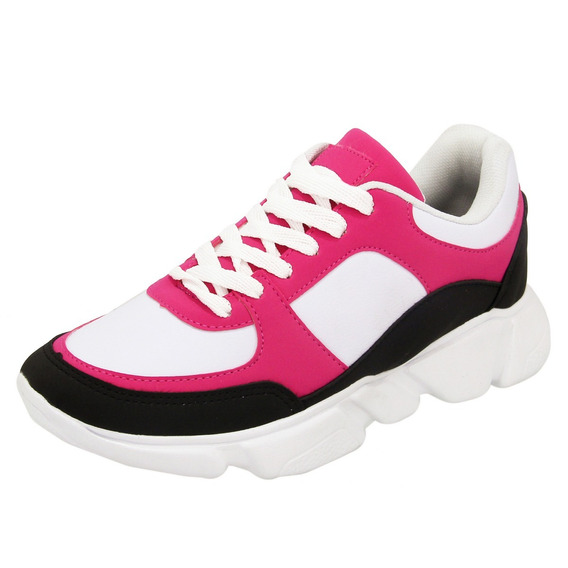 Tenis Chunky Feminino Unica Sneaker Cor Vibrante Lançamento