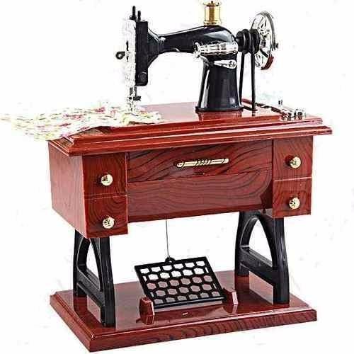 Maquina Costura Vintage Caixa De Música Porta Jóias