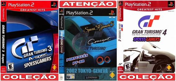 Gran Turismo Collection (3 Jogos) Ps2 Desbloqueado Patch