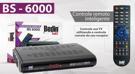 Receptor De Parabólica Bedinsat Bs6000, Analógico E Digital