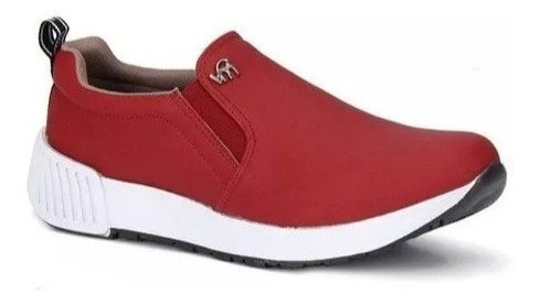 Tênis Feminino Jogging Bordo Viamarte Casual Slip On