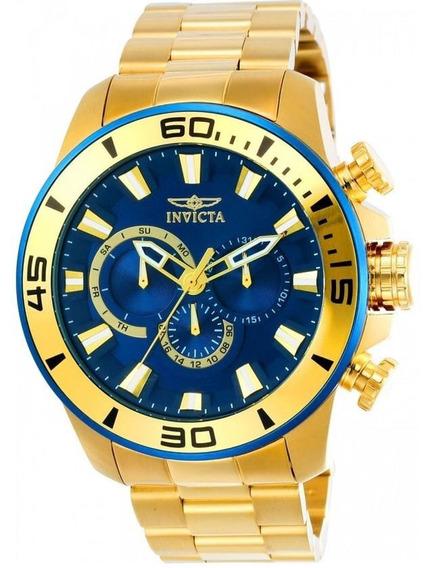Relógio Invicta Pró Diver 22587- Ouro 18 - Original - Novo