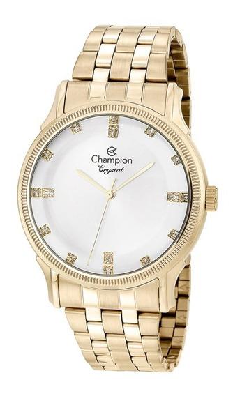 Relógio Feminino Dourado Champion Cn25510h