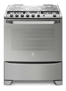 Cocina De Horno Simple Multigas Electrolux 76sas Acero Inox