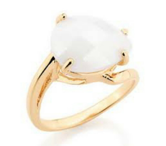 Anel Luxo Branco Rommanel